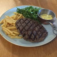 6oz steak light lunch